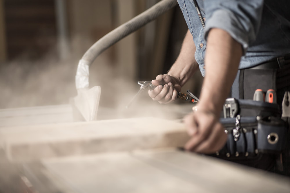 Wood dust in need of an industrial air filtration system Sacramento, CA