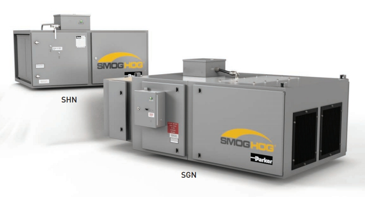 Parker Hannifin's SmogHog SHN & SGN industrial air solutions in San Jose