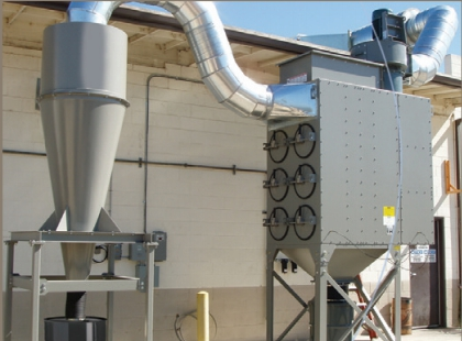 DustHog cyclone dust collection system in San Jose, CA